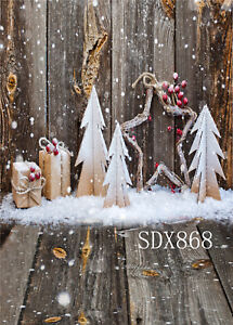 Details About Diy Christmas Tree Gift Background Vinyl Polyester Backdrop Photography Props