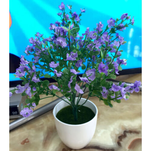 7 Fork 14 Grass 42 Flowers Artificial Potted Plant Lavender In//outdoor Decor