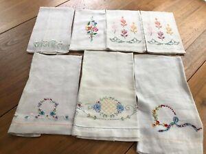 7-Vintage-Embroidered-Linen-Guest-Towels