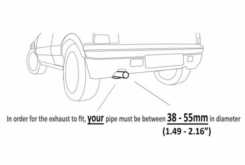 Exhaust For Volvo C 30 70 S 40 V 50 XC 60 70 90 Mini Cooper Clubman Countryman