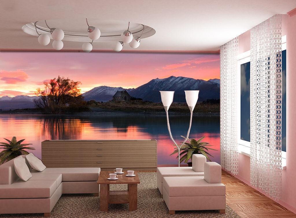 3D Soirée Lac 125 Photo Papier Peint en Autocollant Murale Plafond Chambre Art