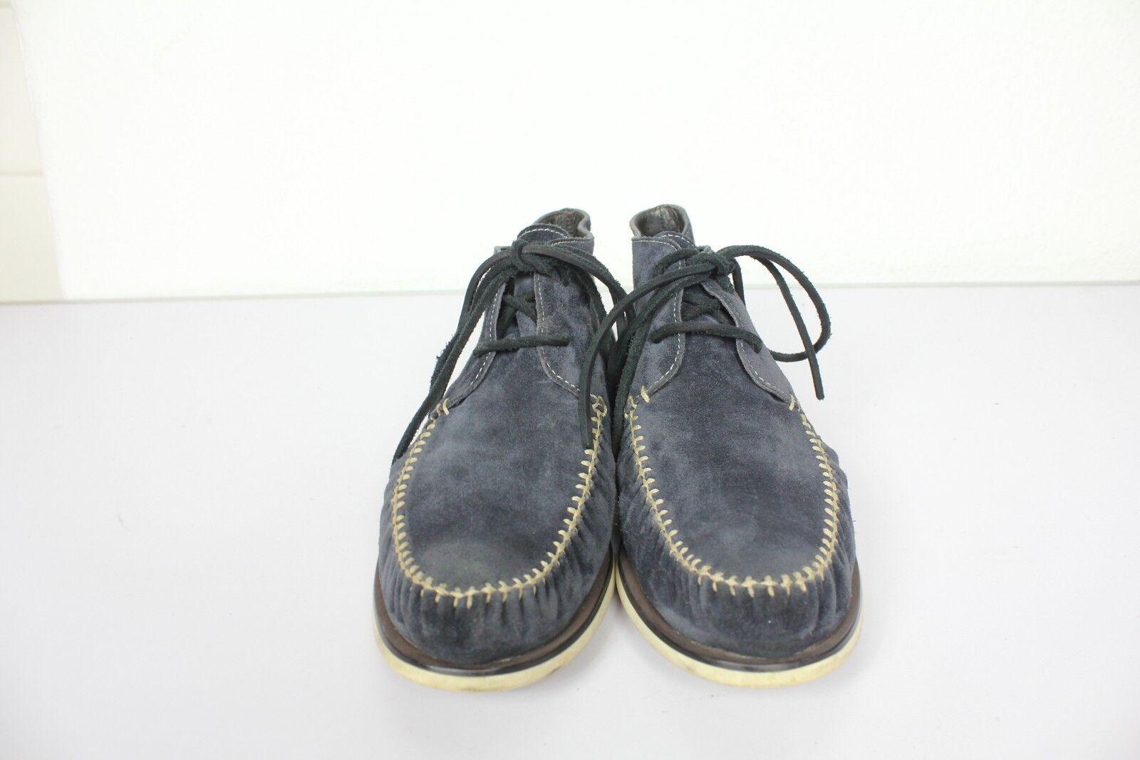 John Varvatos Usa elegante Chukka Boots nubukleder azul oscuro oscuro azul eu:44, 5-us:10 eaf9ad
