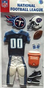 "EK Success /""NFL Tennessee Titans/"" Team Uniform Dimensional Stickers"