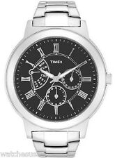 Timex T2M424 Classic Black Dial Stainless Steel Men's Watch