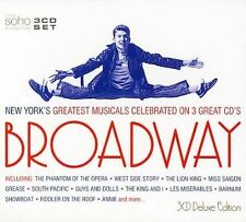Broadway: New York's Greatest Musicals by Various Artists (CD, Nov-2004, 3 Discs, Soho Latino)
