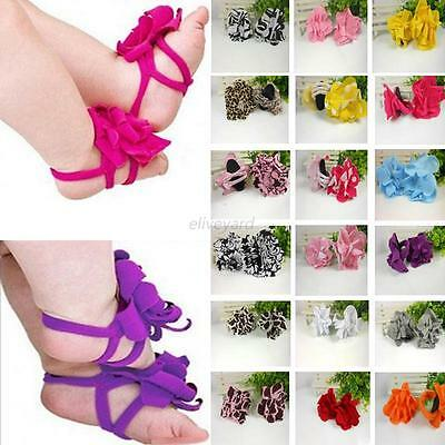 Baby Girls Socks Sandals Shoes Barefoot Toe Blooms Shoes Newborn-12 Months