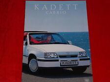 OPEL Kadett E Cabrio Basis + GSi Prospekt von 1989