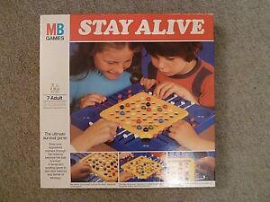 Vintage-MB-Jeux-STAY-ALIVE-Jeu-de-strategie-1972