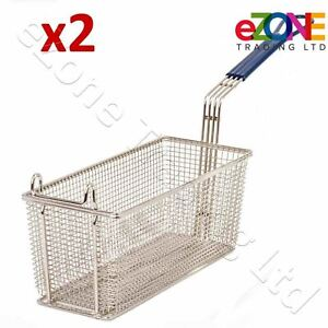 2x-Fryer-Basket-Commercial-Restaurant-Kitchen-Chip-Fish-Heavy-Duty-335x140x140mm