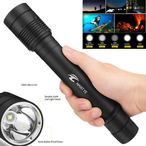 18000Lm XM-L2 LED Scuba Diving Flashlight 26650 Torch Waterproof Head Light Lamp