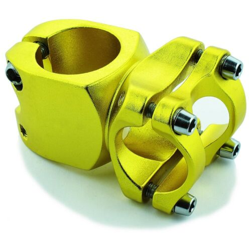 """Bicycle Short 40mm Stem 28.6mm or 1-1//8/"""" to 25.4mm Cycling Handlebar BMX GOLD"""