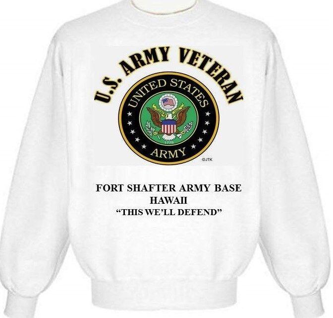 FORT SHAFTER ARMY BASE HAWAII ARMY EMBLEM SWEATSHIRT