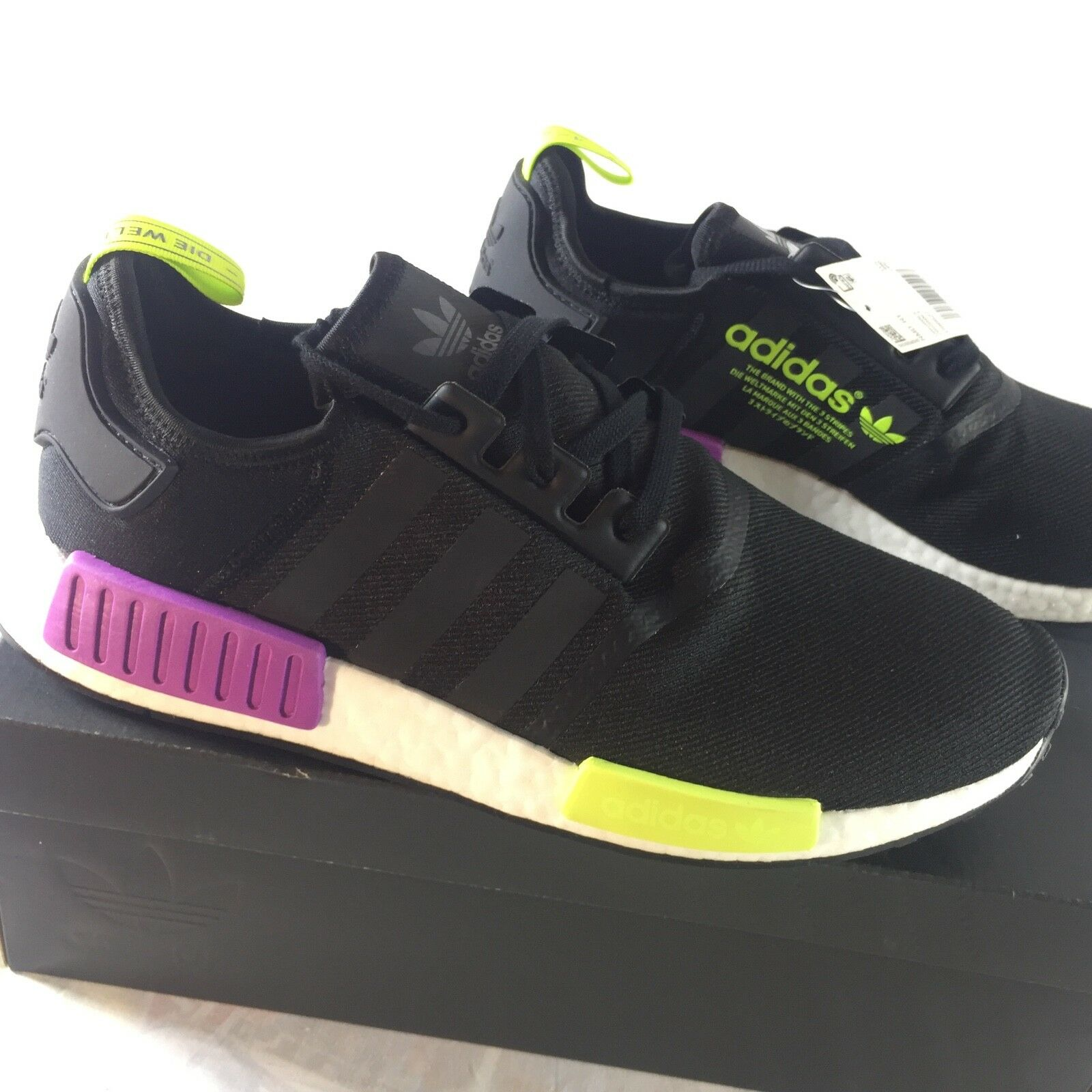 Adidas NMD R1 Joker Pack Men's Size 12 Solar Yellow Shock Purple Boost NEW