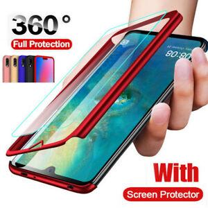 360-Protect-Hard-Case-Tempered-Glass-For-Xiaomi-Mi-9-SE-Max-2-Redmi-Note-7-Pro