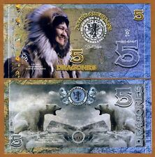 El Club De La Moneda, 5 Dragones, 2016 (2015), Polymer, UNC > Inuit, Polar Bear