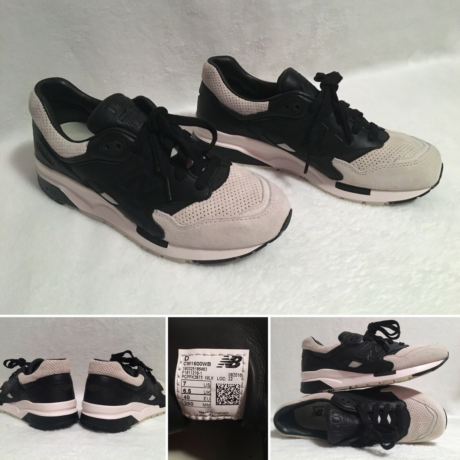 Homme New Balance CM1600WB Navy  Gris  Running Chaussures Sneaker Leather