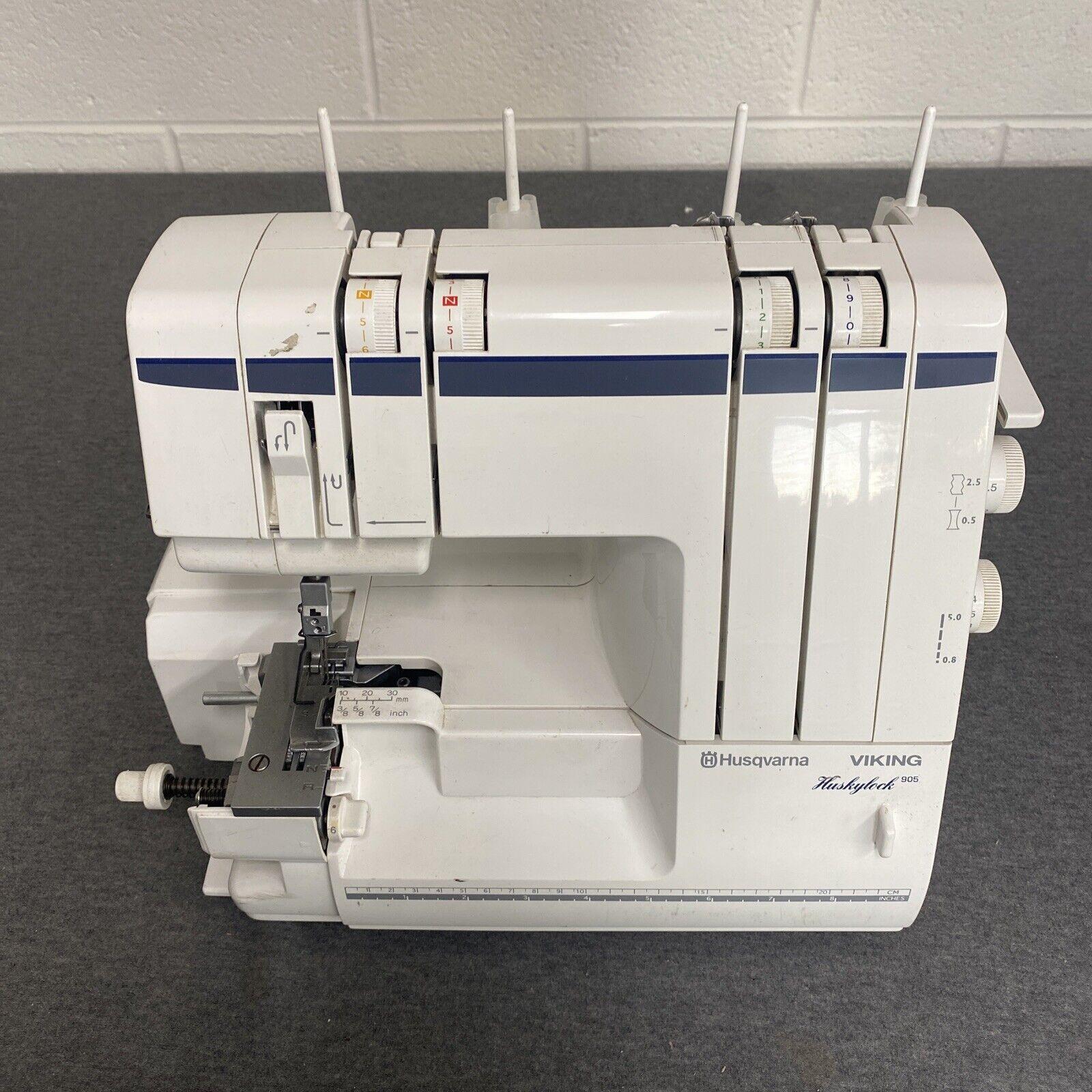 Husqvarna Viking 905 Huskylock Serger Sewing Machine [No Foot Controller]