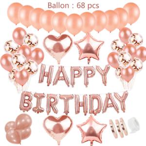 Geburtstagsdeko-Rose-Gold-fuer-Maedchen-Helium-Folienballons-Happy-Birthday-Banner
