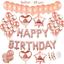 Geburtstagsdeko-Rose-Gold-fuer-Maedchen-Helium-Folienballons-Happy-Birthday-Banner Indexbild 1