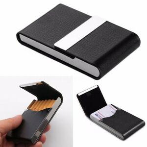 1pcs pocket black stainless steel pu leather name business card case image is loading 1pcs pocket black stainless steel pu leather name colourmoves