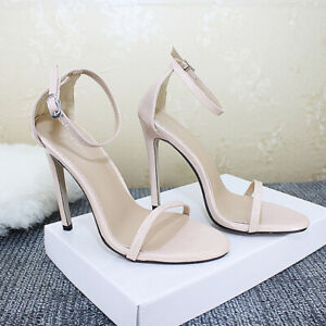 Women-039-s-Party-Sandals-High-Stilettos-Heels-Ankle-Strap-Open-Toe-Casual-Shoes-New