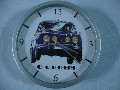 RENAULT 8 GORDINI pendule murale horloge 20cms ( KDO DKO R8 RALLYE COTE CIRCUIT