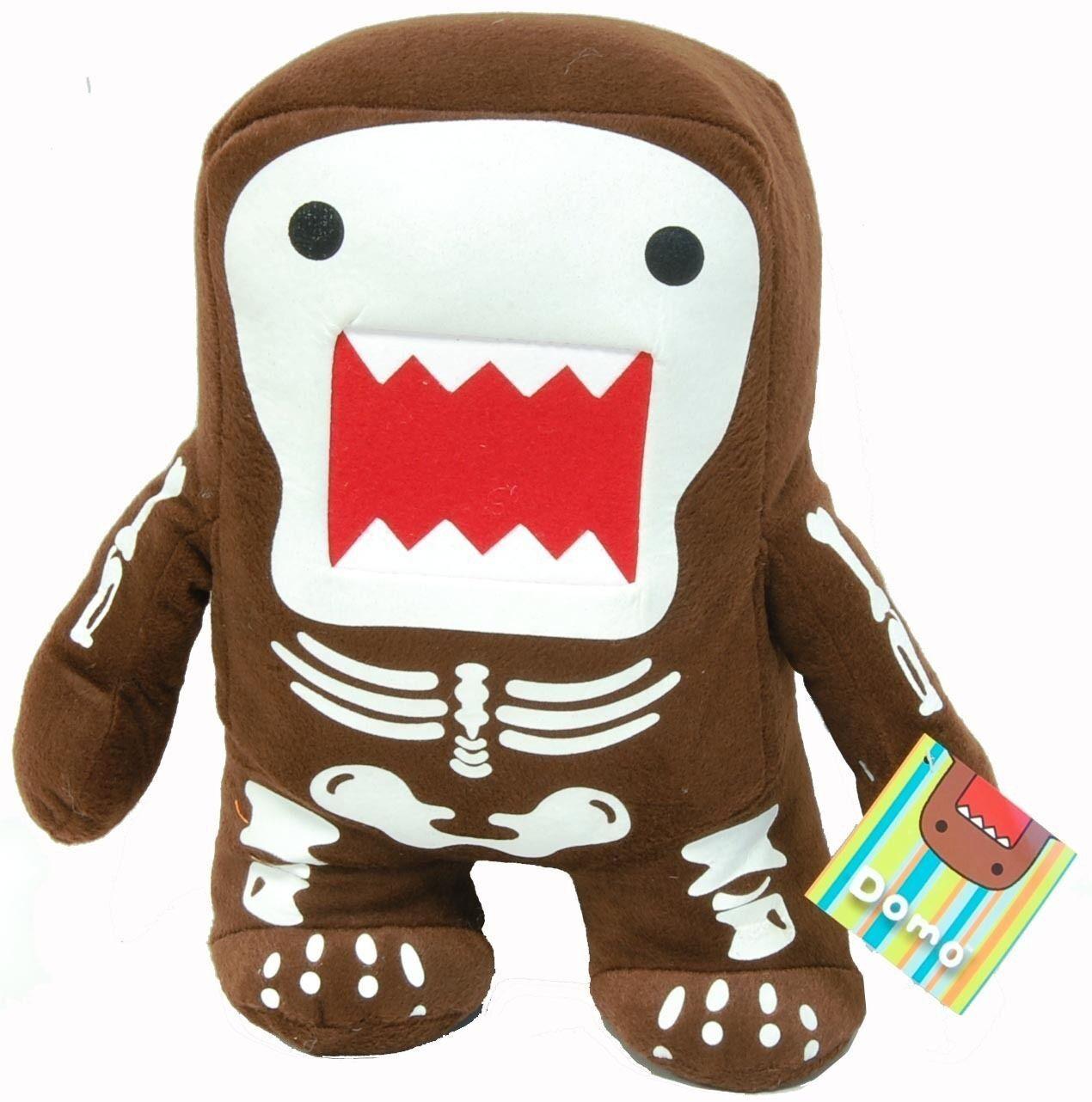 Domo Kun 18  X-Large Skeleton Plush Spielzeug-18  braun Standing Domo Kun Plush-New