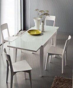 Tavolo vetro metallo moderno tavoli moderni legno cucina for Sedia design ebay