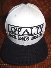 RICH KIDS BRAND White/Black LOYALTY HAT Leather Strap Adjust Baseball Cap 1-SIZE
