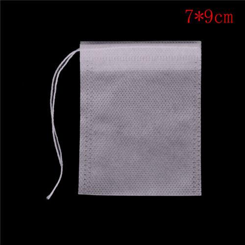 100X non-tissé vide sachets chaîne de chaleur sceau de papier filtre de thé H