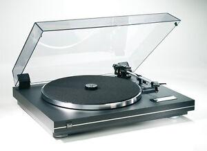 Dual CS 455-1 EV Plattenspieler (Schwarz Silber) incl.Tonabnehmer Ortofon OMB 10