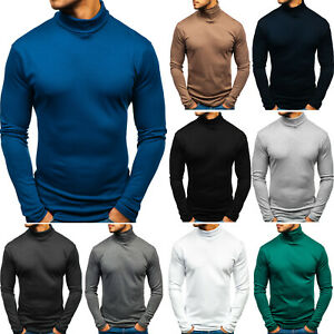 Rollkragen Langarmshirt Sweatshirt Pullover Longsleeve Herren BOLF 1A1 Pulli
