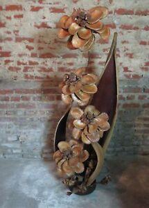 Lampe-vintage-COCO-en-feuilles-et-fleurs-de-bananier-sechees-70-039-S