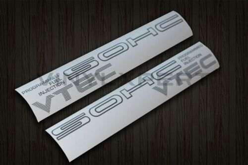 88-91 civic EF8 EF9 SOHC VTEC DECAL civic crx b16a d15b si zc hatchback coupe