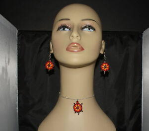 Turtle-Earrings-and-Necklace-Set-by-Shirley-Nelson-Navajo