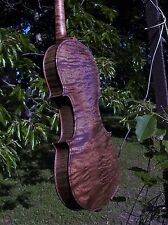 "Wilhelm Duerer German 1902- 13 6/16"" 33.8cm Violin RARE Exquisite CURLY Maple"