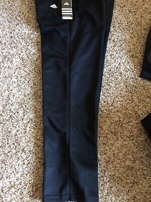 NWT Adidas Triple Stripe Boy's Baseball Pants Cleat Cut Black Free Ship | eBay