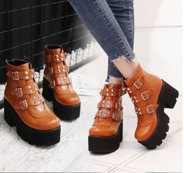 femmes Sz35-46 Round New Toe Pu Leather Combat Vintage Oxford Flat Heel chaussures