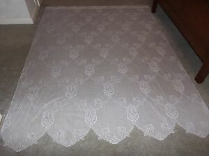 New White Lace Sheer Panel 83L X 60W