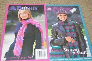 Patons-Knitting-Crochet-Pattern-Book-Scarves-N-Stuff
