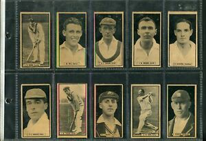 D-C-THOMSON-amp-CO-1926-The-World-039-s-Best-Cricketers-green-back-complete-set