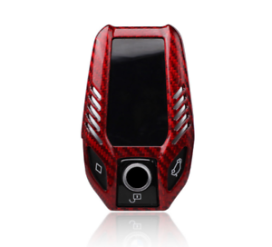 Luxury Red Carbon Fiber Remote Key Fob Case Holder For Bmw G11 G12