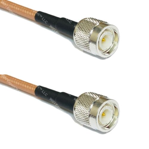 RG400 TNC MALE Plug to TNC MALE Plug Coaxial RF Pigtail Cable ships from USA