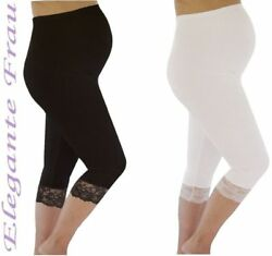 SPITZE UMSTANDSLEGGINGS LEGGINGS 3/4 Umstandshose Hose Leggins Legins Legging *