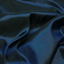 "Plain Navy Blue Silky Taffeta Fabric Weddings/Prom 60"" *Per Metre"