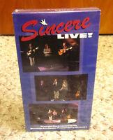 Sincere Live Southern Gospel Quartet Vhs Kentucky Christian 1997