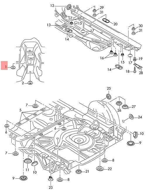 Genuine Bungs X10 Vw Audi Seat Bora Caddy 7l0899182 For Sale Online