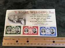 1956 Monaco Royal Wedding first day cover FDC Pan American Airways Postcard