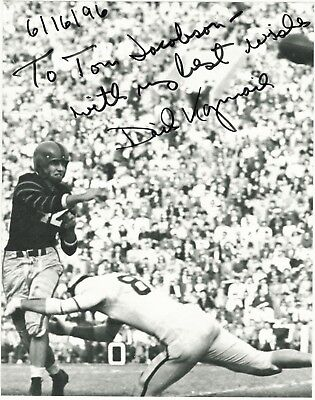 Spirited Dick Kazmaier Hand-signed Princeton Game Action 8x10 Uacc Rd Coa Heisman Winner College-ncaa Photos