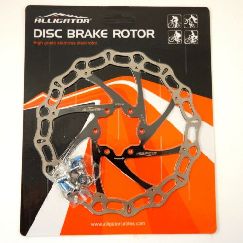 Black ALLIGATOR Crown MTB Road Bike Disc Brake Rotor 160//180//203mm